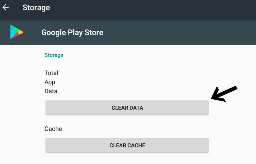 Elimina i dati da Google Play per iniziare l'installazione di Rush Wars