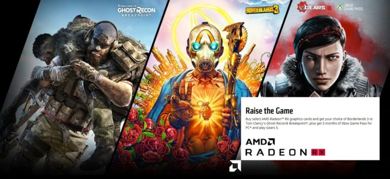AMD 'Raise the Game' offre giochi simili Borderlands 3
