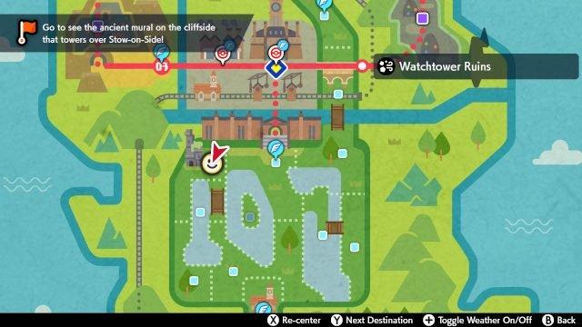 Pokemon spada e scudo noibat Dirigiti verso le rovine della Torre di Guardia