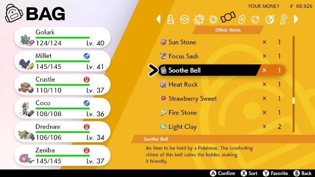 lo scudo spada pokemon lenisce la campana