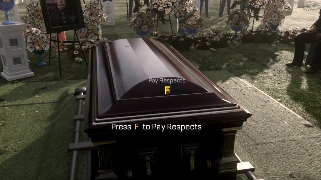 Press F to Pay Respects meme Call of Duty