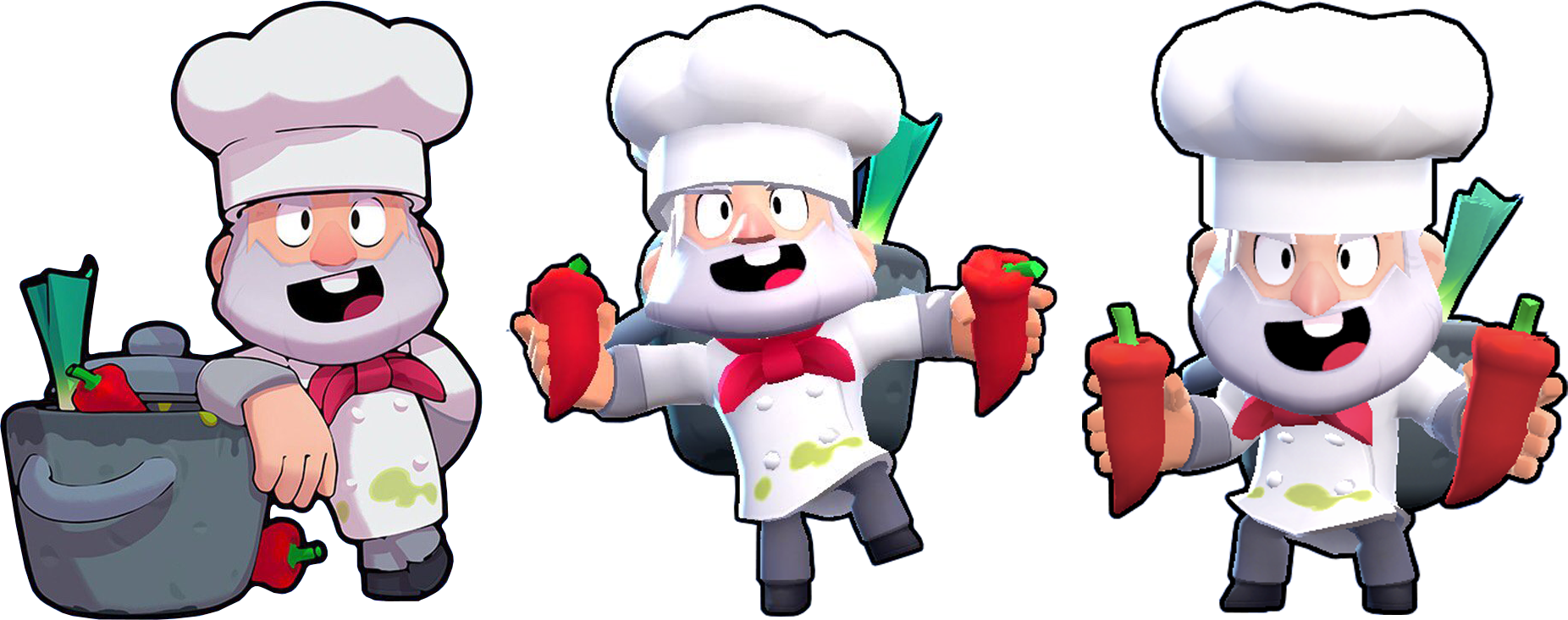Mike cucina in varie pose