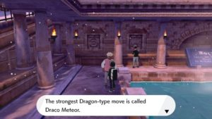 Pokemon Sword and Shield Draco Meteor Tutor location