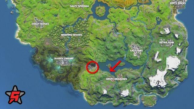 punto di partenza della mappa di posizione di fortnite hydro 16
