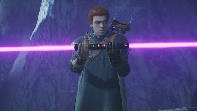 guerre stellari jedi cadute ordine con doppia spada laser