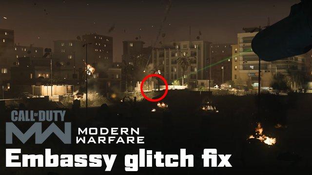 Modern Warfare The Embassy Mission bloccato Correzione di bug della campagna