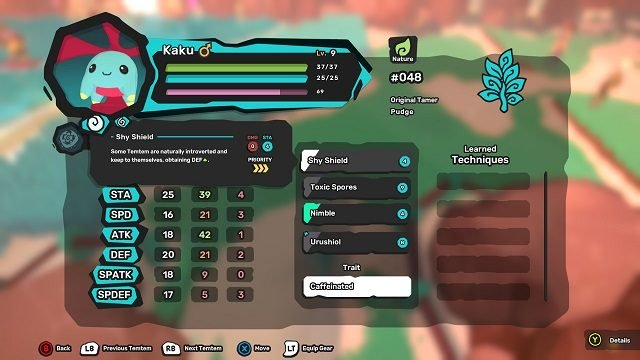 Temtem Stats Gameplay