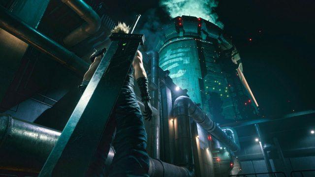 Scatola di ritardo di Final Fantasy 7 Remake art midgar Cyberpunk 2077