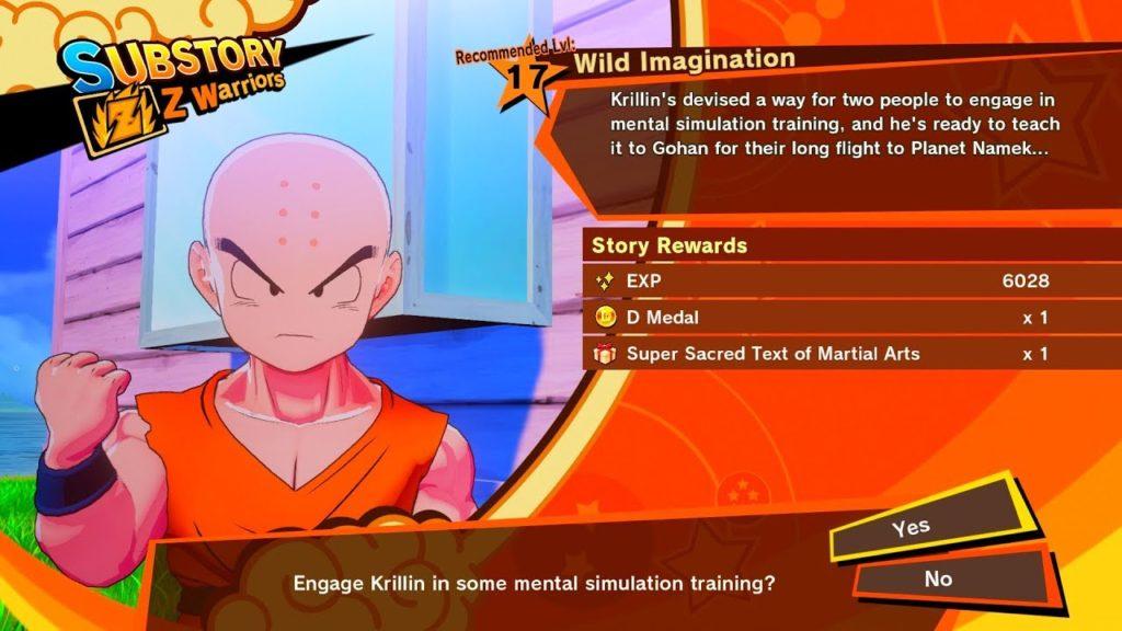 Dragon Ball Z: Kakarot Substory
