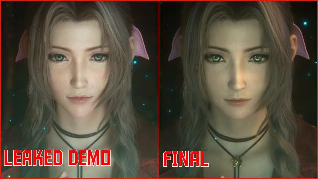 Final Fantasy 7 Remake Aerith Face Design Prototype vs Final