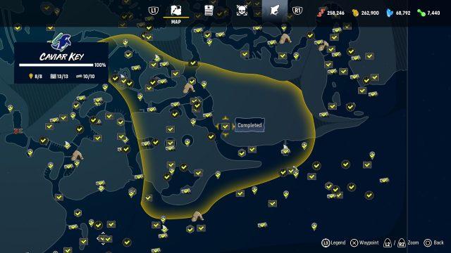 Guida ai trofei Maneater e roadmap maneater cavial bay da collezione
