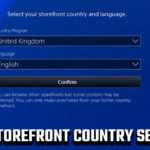 PS4 storefront country