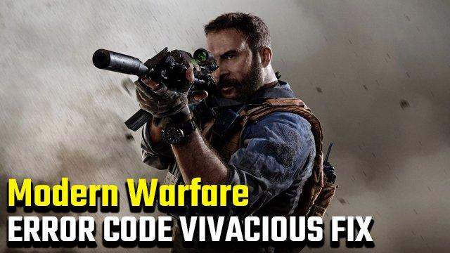 Call of Duty: Modern Warfare Error Code Correzione vivace