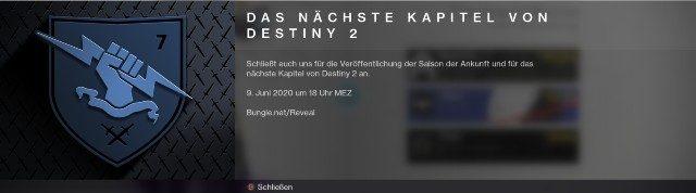 Destiny 2 Stagione dell'arrivo tedesco