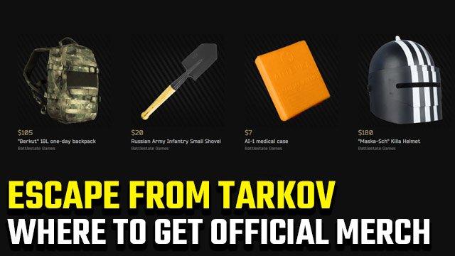 Dove posso acquistare Fuga ufficiale da Tarkov merch?