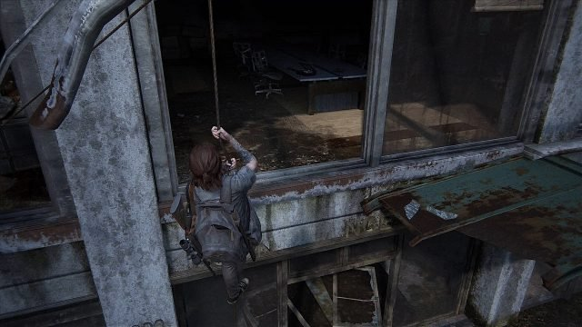 The Last of Us 2 Seattle Convention Center Climbing Door Climbing