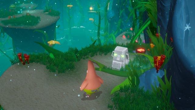 spongebob: battaglia per il fondo bikini reiki tiki reidratato rompicapo tutto in pietra tiki