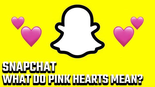 Cosa significano i cuori rosa su Snapchat?