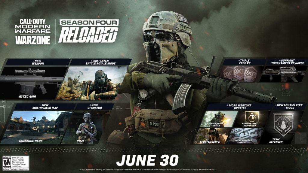 Annunciato l'aggiornamento 1.23 di Call Of Duty Modern Warfare, 200 giocatori Warzone