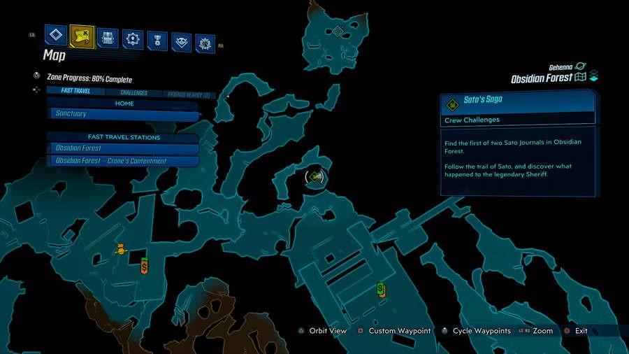 Borderlands 3 Bounty of Blood Obsidian Forest Crew Guida alle sfide