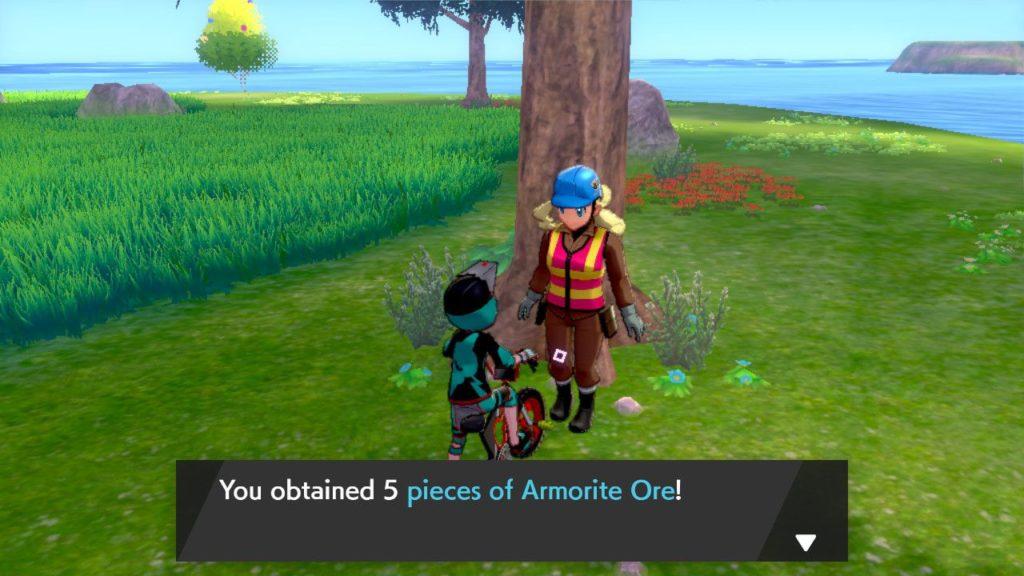 Come coltivare il minerale di armorite in Pokemon Spada e Scudo Isle of Armor