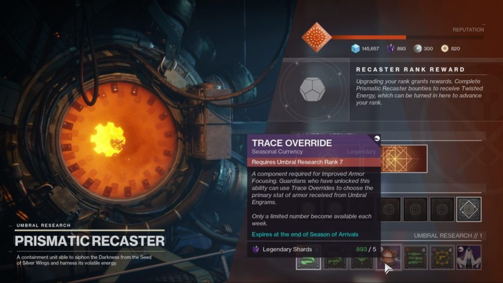 Come sbloccare Trace Override in Destiny 2 Season of Arrivals