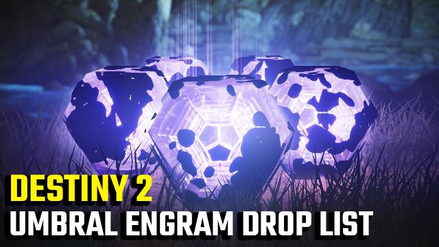 Elenco di consegna dell'engram umido Destiny 2 | Quali oggetti puoi ottenere dagli Umgram Engrams?
