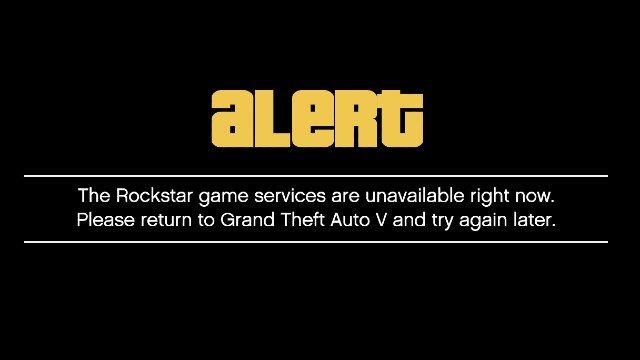 GTA Online e Red Dead Online   I servizi di gioco Rockstar non sono al momento disponibili errore