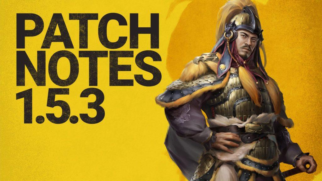 Total War: Three Kingdoms Patch 1.5.3 è disponibile, varie correzioni di errori