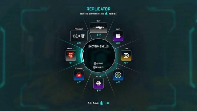 Schermata Replicatore di creazione di Apex Legends