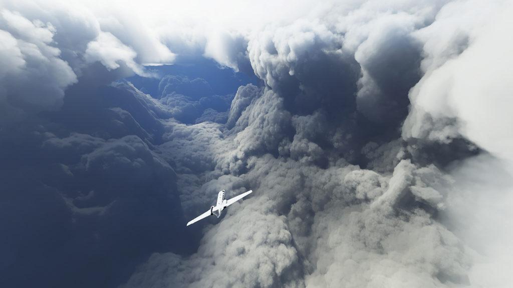 I giocatori di Microsoft Flight Simulator stanno volando attraverso l'uragano Laura