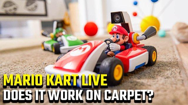 Mario Kart Live funziona sui tappeti?
