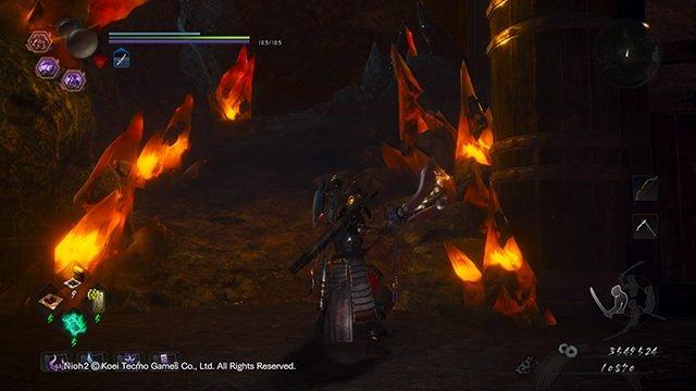 Nioh 2 Oscurità nelle posizioni dell'altare del fuoco della capitale