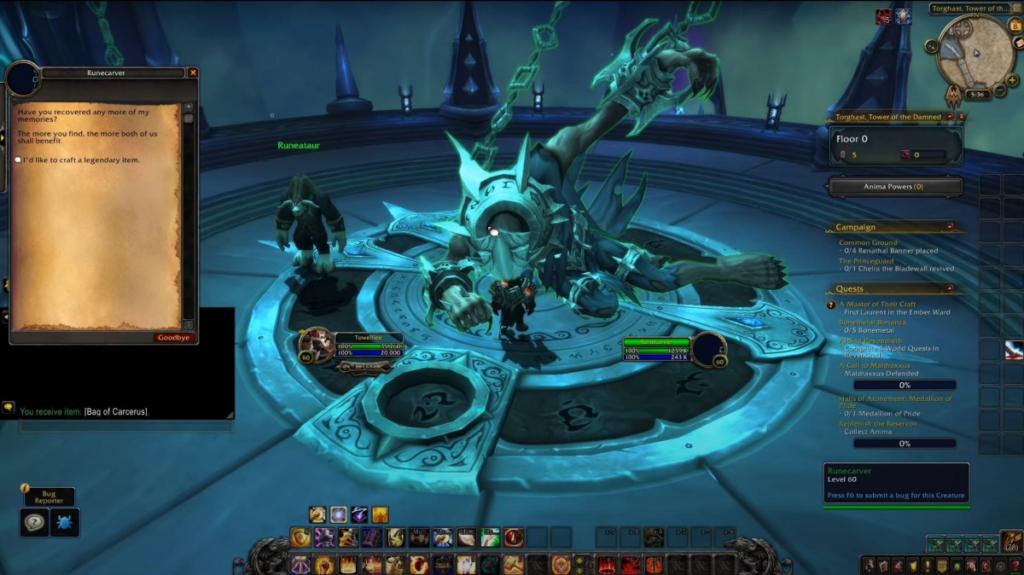 World of Warcraft Shadowlands Legendary Crafting