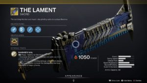 Destiny 2 Beyond Light Lost Lament Exotic