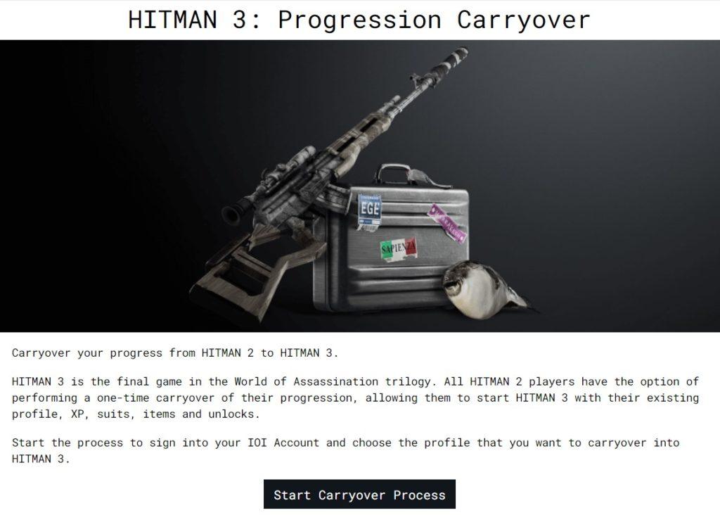 Transfer Data from Hitman 2 to Hitman 3