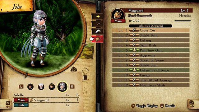 Bravely Default 2 job class list and unlocks - Vanguard